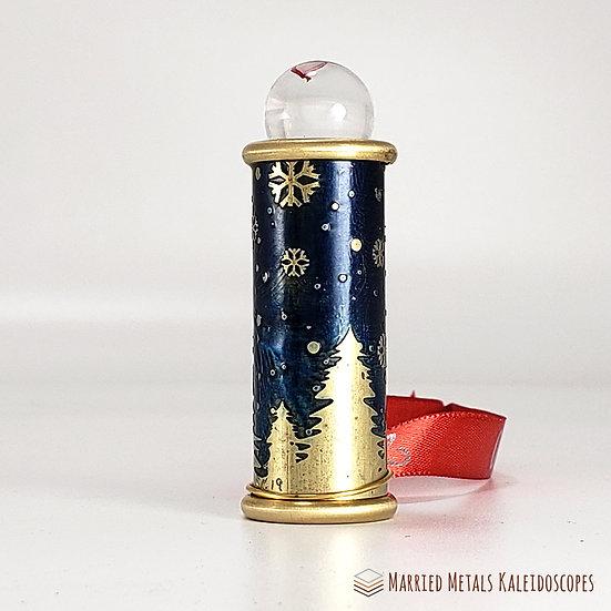 Starry Night - Etched Brass Christmas Teleidoscope