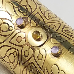 King's Scepter Kaleidoscope Detail - Moonstone and Citrine Stone