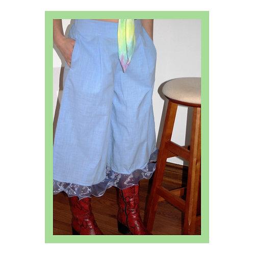 Silk Frill Pant - Large