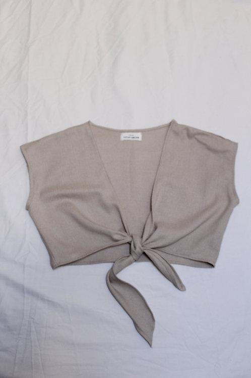 BEIGE: Groovy Boobie Wrap Shirt