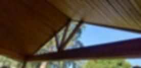 Revarnished Ceiling Beams