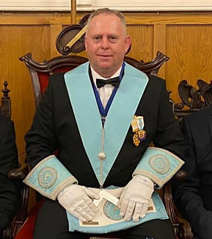 WBro Jason Heels, Worshipful Master of Marquis of Granby Lodge No.124