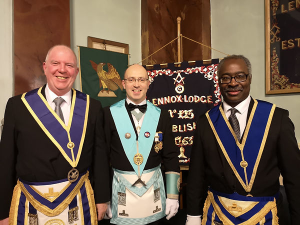 Three regular visitors from Lennox Lodge No.123
