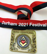 2018 supporters jewel for the Durham2021 Festival.