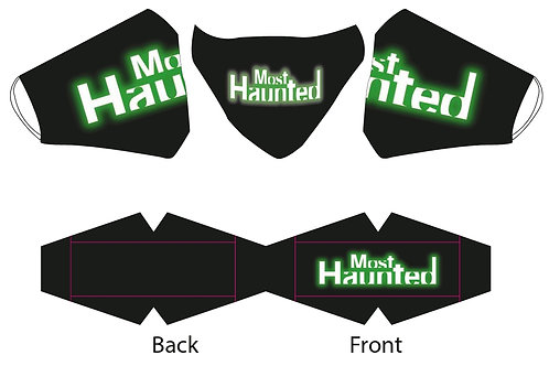 Official Most Haunted Face Covering Front Logo MERCH
