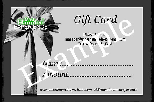Most Haunted Exp Gift Voucher