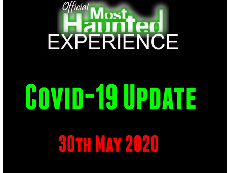 30th May Events Cancelled