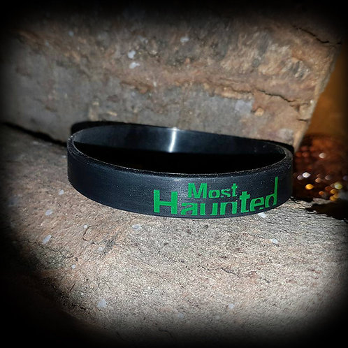 Official Most Haunted Wrist Band ( Black ) MERCH