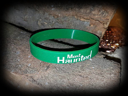Official Most Haunted Wrist Band ( Green ) MERCH