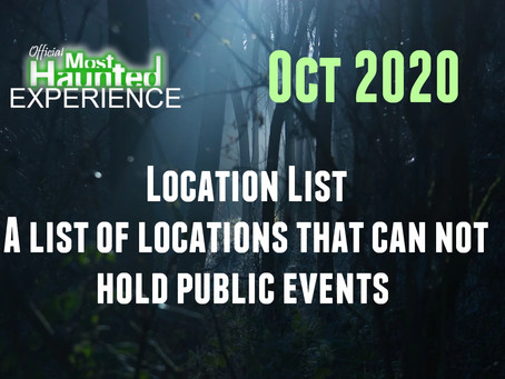 Cancelled Or Postponed Locations For Oct 2020