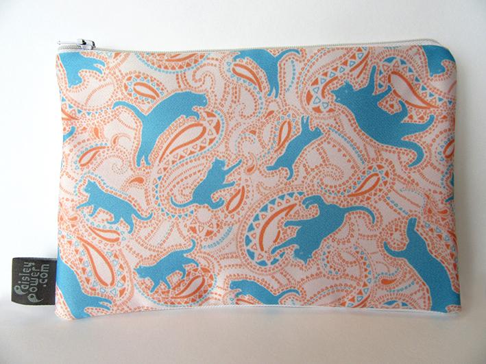 cat-zip-bag-with-paisley-cat-pattern-blue-orange-digital-print-fabric