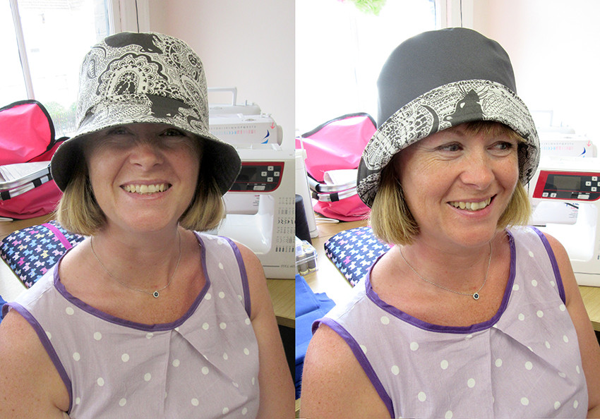 Paisley Power hat worn by Michelle at Zoe's sewing class