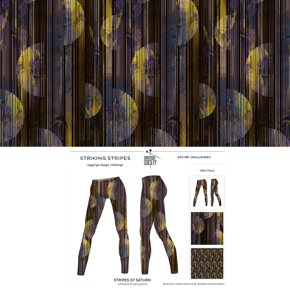 Patrick Moriarty's entry for design competition for printed leggings