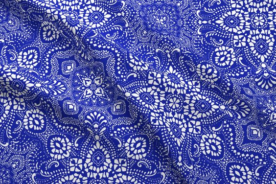Mosaic-Bandana-design-fabric-by-Paisley-Power