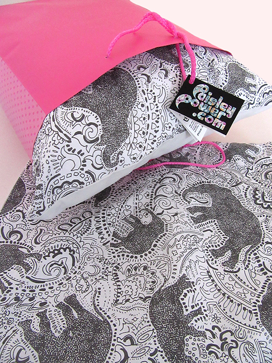 elephant cushions - elephant pillows - paisley pattern by Paisley Power.jpg