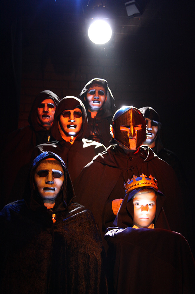 masks designed by Tracey Peacock and Patrick Moriarty for Shakespeare's Macbeth