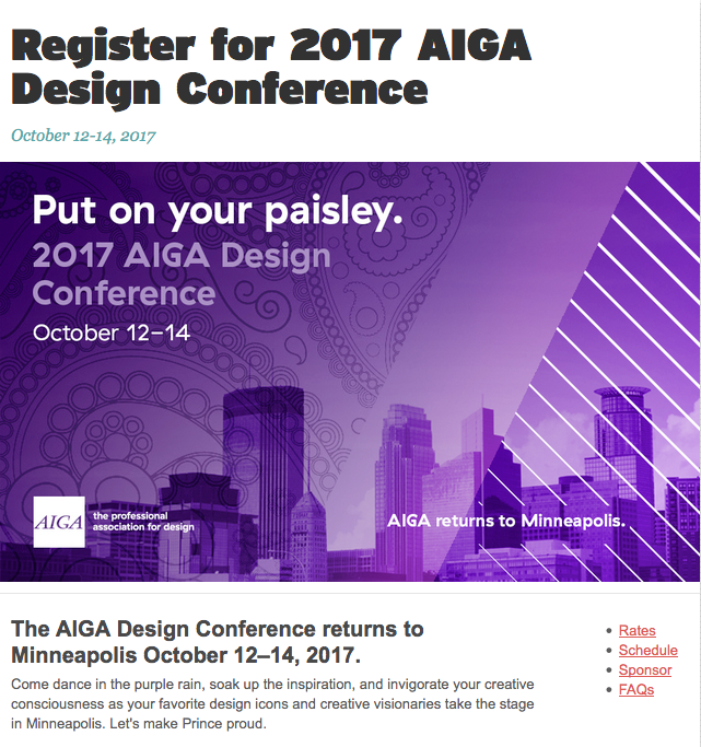 Poster for the AIGA Design Conference on the theme of paisley