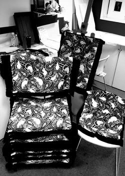 screen-printed rat fabric design