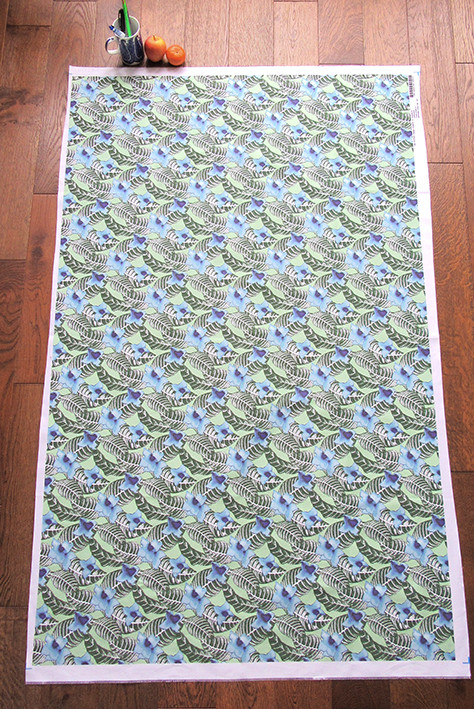 1 Yard of printed cotton twill with Paisley Power's tropical floral design