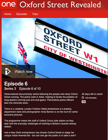 Designer Patrick Moriarty was interviewed by the BBC in this TV programme
