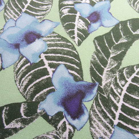 close-up photo of printed cotton by Patrick Moriarty