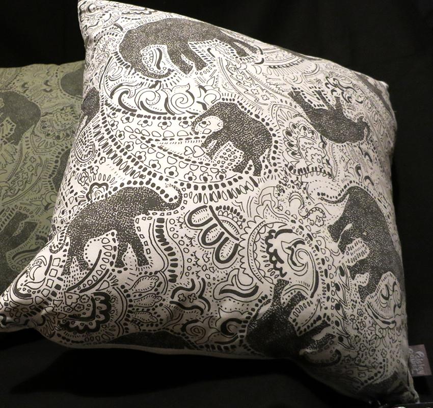 elephant cushion - by patrick moriarty