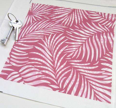 Pink version of the Palm Leaf design