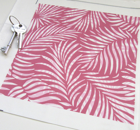 Pink version of the Palm Leaf design