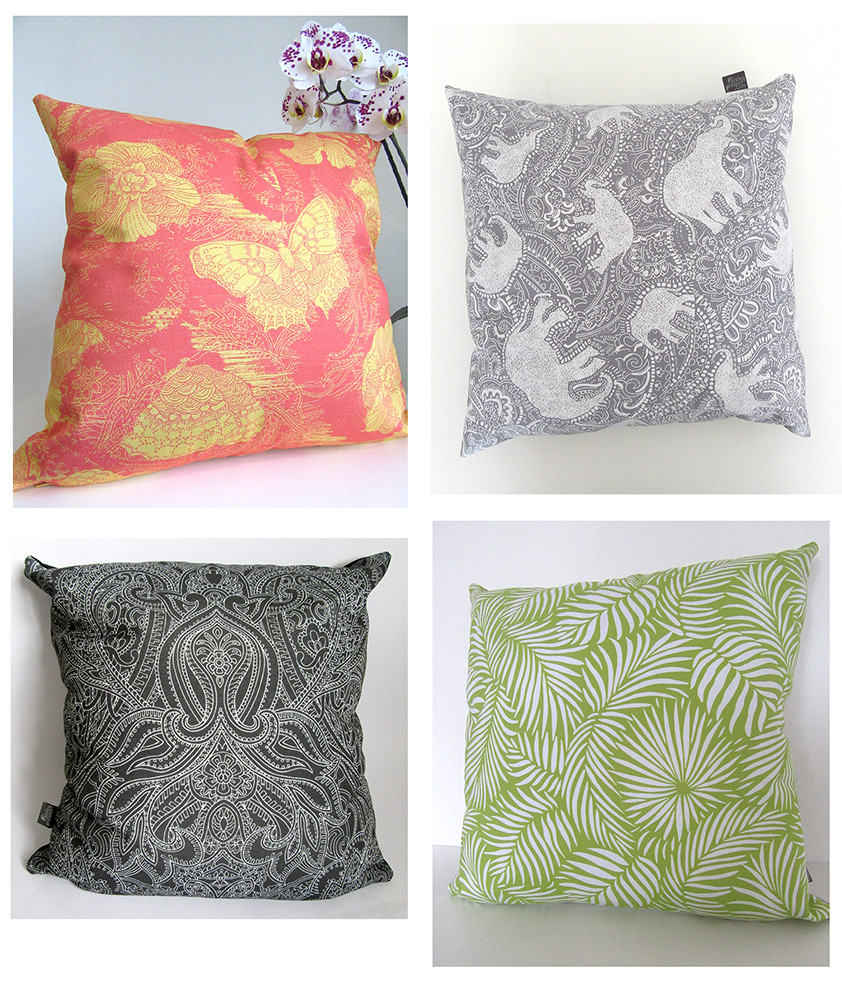 Paisley Power cushions bought by visitors to the Beecroft Art Gallery, Southend