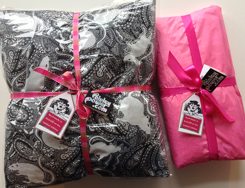 rat cushions gift wrapped