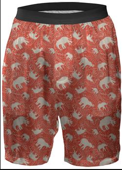 orange-elephant-print-boxer shorts-by-Paisley-Power