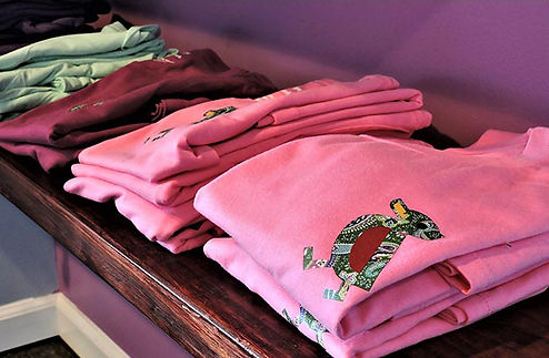 fashionable printed t-shirts by Vintage Duck Brand with paisley pattern in logo by Paisley Power