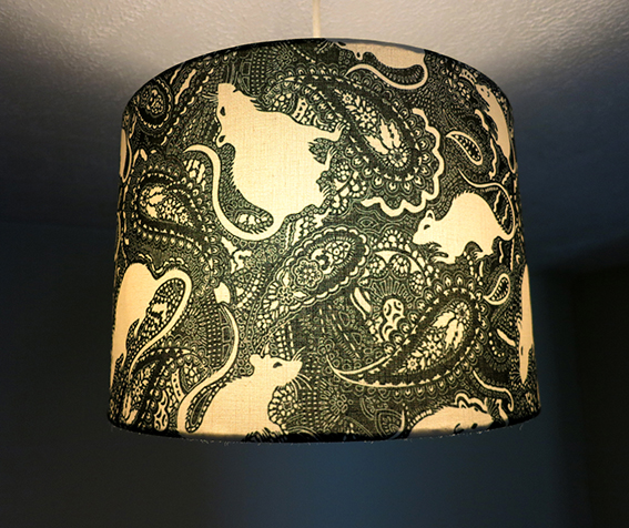 paisley rat design lampshade