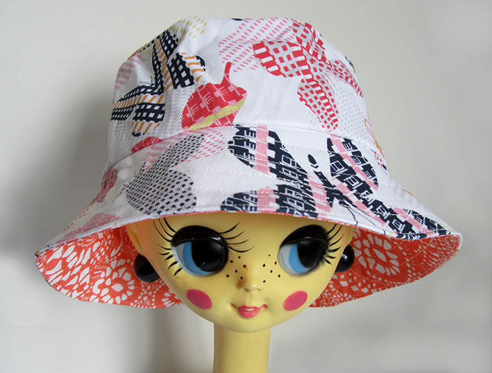 bucket-hat-with-butterfly-pattern-cotton-by-Paisley-Power