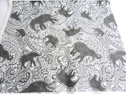 elephant paisley pattern printed cotton