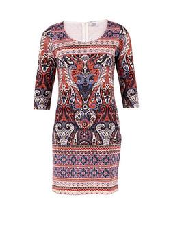dress-by-Saint-Tropez-womenswear-with-print-by-Patrick-Moriarty