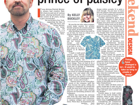 Newspaper Interview with Patrick Moriarty