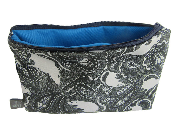 rat pattern zip bag
