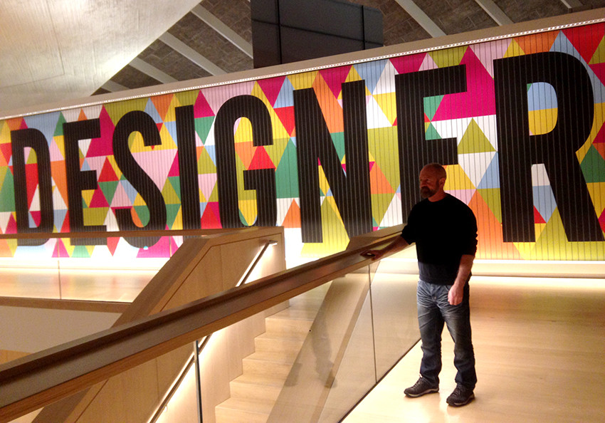 Designer Patrick Moriarty at the Design Museum London