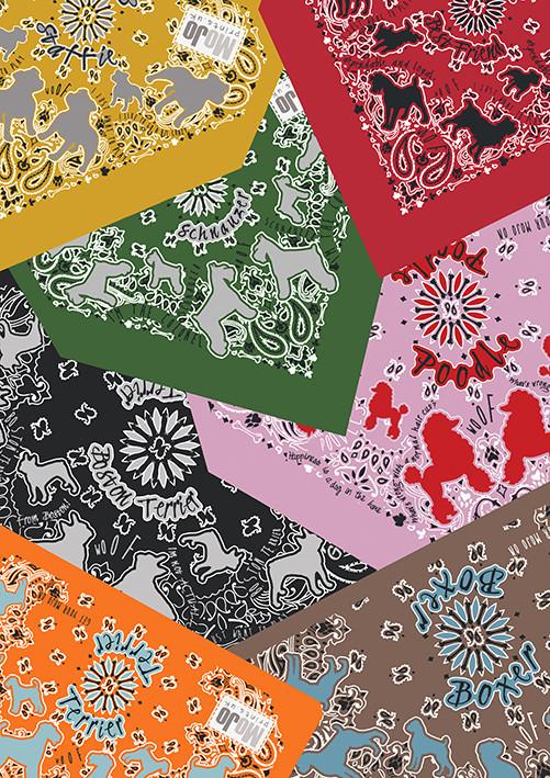 dog bandana designs by MOJO Prints