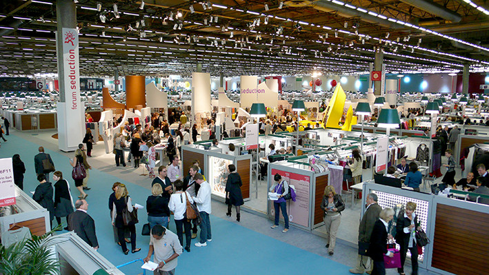 international textile industry fair Premier Vision held in Paris