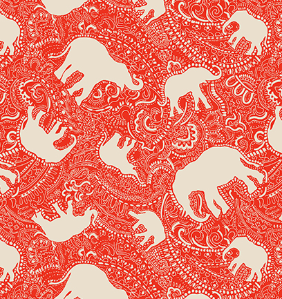 elephant-pattern-print-with-paisley-doodle-design