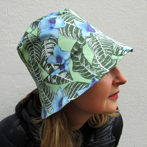 stylish model wears Paisley Power fashion hat