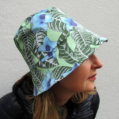 stylish model wears Paisley Power fashion hat