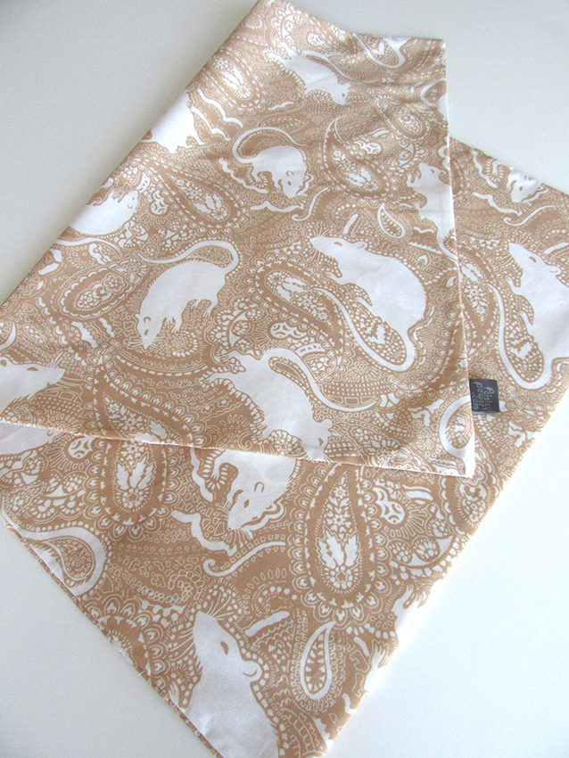 fawn-colour-pillowcase-Paisley-Power