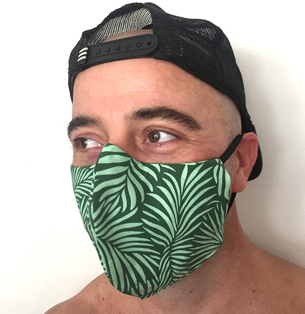 Green Palm Leaves face mask