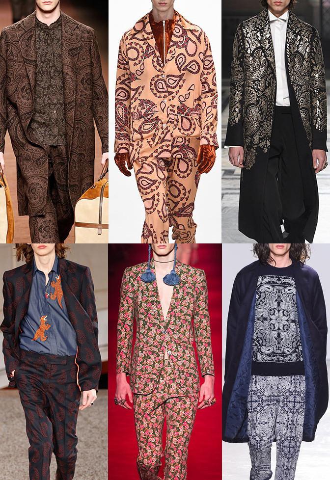paisley pattern menswear print trend