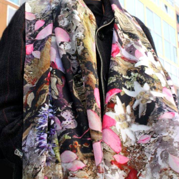 Organic digital scarf print