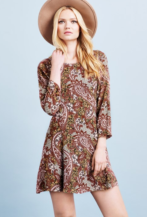 Vero Moda dress with paisley print