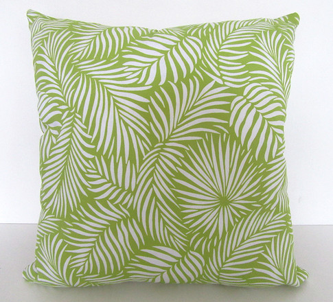 Lime-green-tropical-cushion-by-Paisley-Power